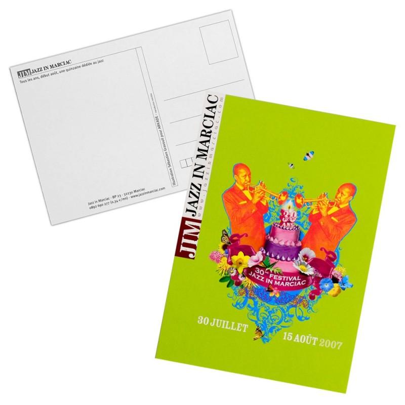 Carte postale Affiche Jazz in Marciac 2007 - modèle 2