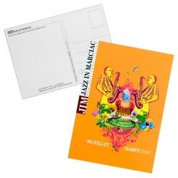 "Carte postale ""Affiche"" Jazz in Marciac 2007 - modèle fond orange"