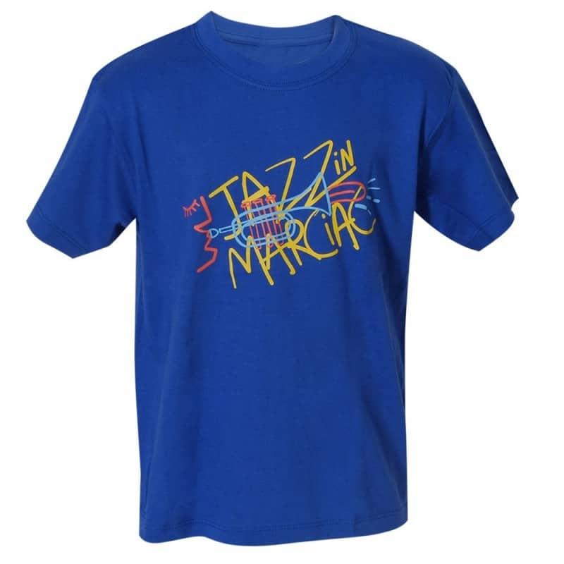 T-shirt enfant Cocteau bleu Jazz in Marciac
