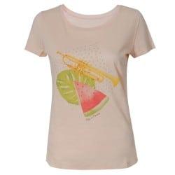 T-shirt femme trompette pastèque rose Jazz in Marciac