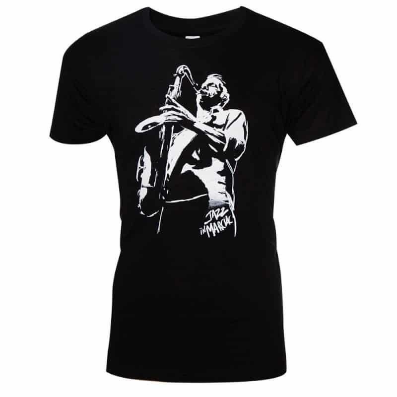 T-shirt Saxophone 2018 Col rond Jazz In Marciac