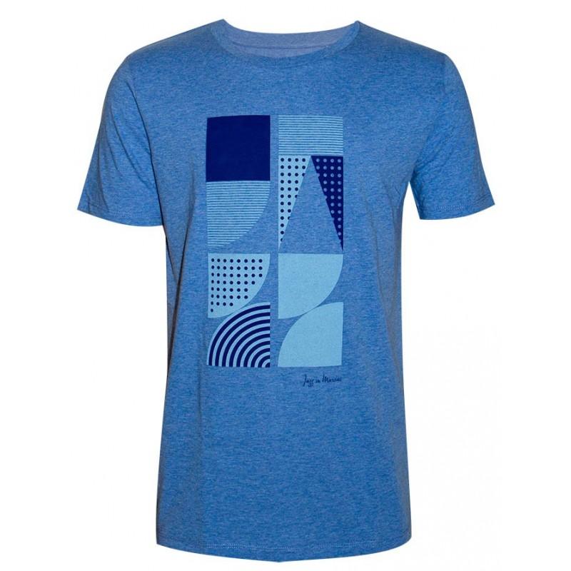 T-shirt Géométrie bleu Jazz In Marciac