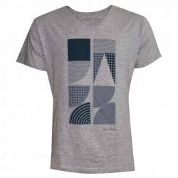 T-shirt Géométrie gris
