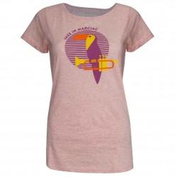 T-shirt Femme Toucan rose MC