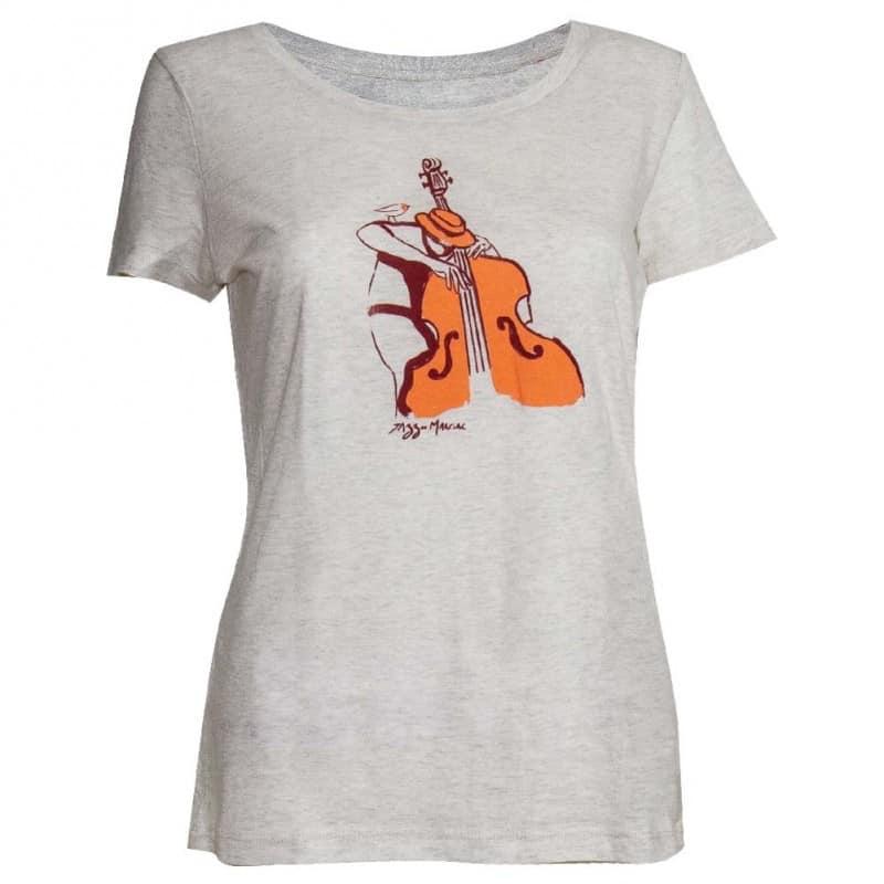 T-shirt Femme Contrebasse crème