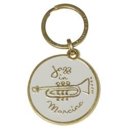 Porte-clés doré-blanc Jazz in Marciac