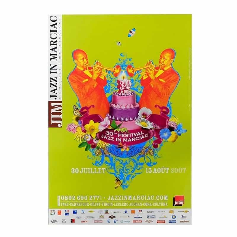 Affiche Jazz in Marciac 2007 - Modèle 1